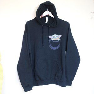 baby Yoda pocket pullover hoodie